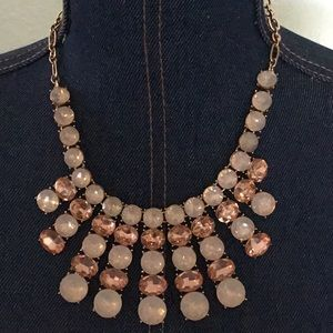 CHARTER CLUB FASHION ROSE GOLD STATEMENT NECKLACE